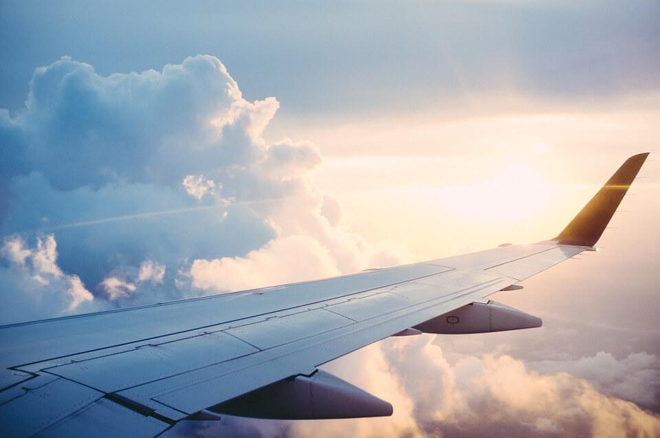 el løbehjul på fly